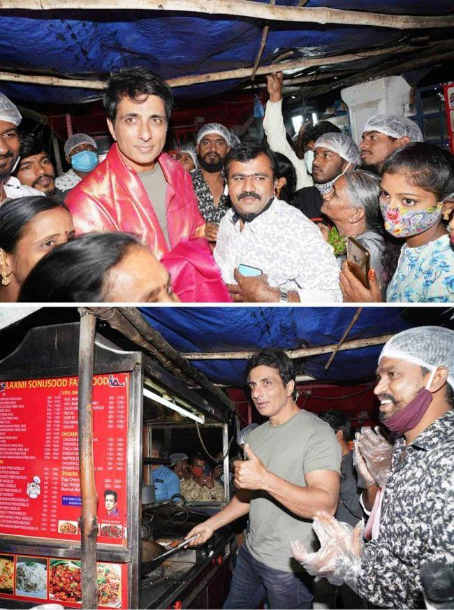 Sonu Sood Came To the Fastfood center at Begumpet