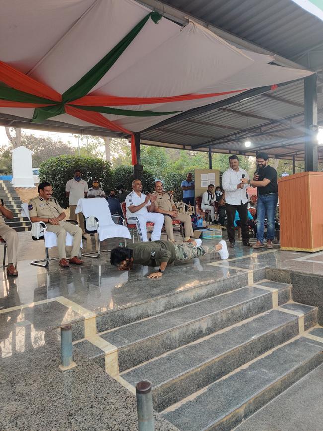 Sudheer Babu Spent with CP Sajjanar During Republic Day Photos