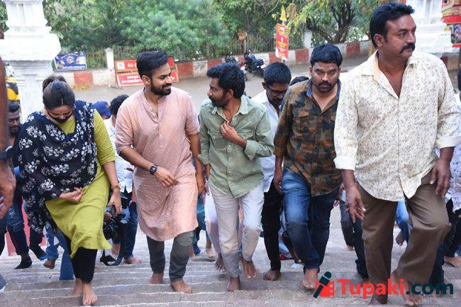 Uppena movie team at annavaram temple Visits and pithapuram temple
