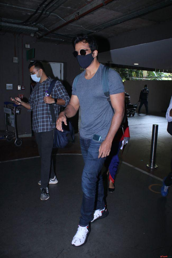 Sonu Sood Spotted At Airport Arrival