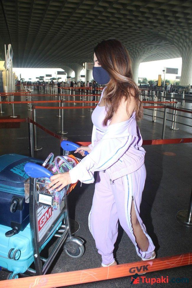 Nikki Tamboli Spotted At Airport Departure