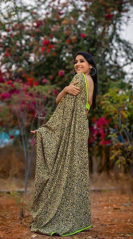 Rashmi Gautam Latest Saree Pics