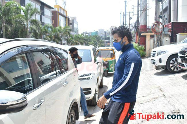 Vaishnav Tej papped Post Gym Session In Hyderabad