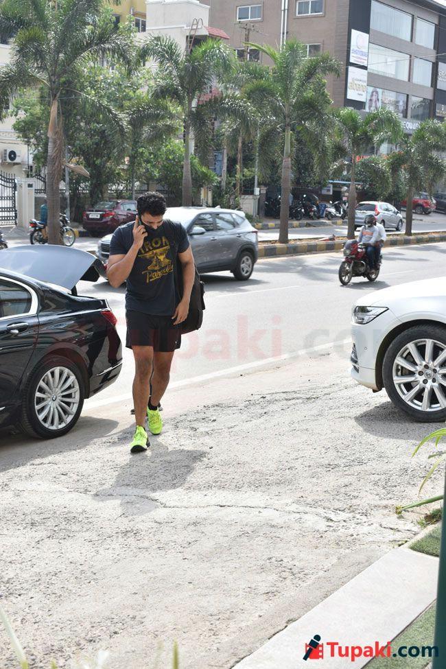 Photos Of Varun Tej Going To The Gym