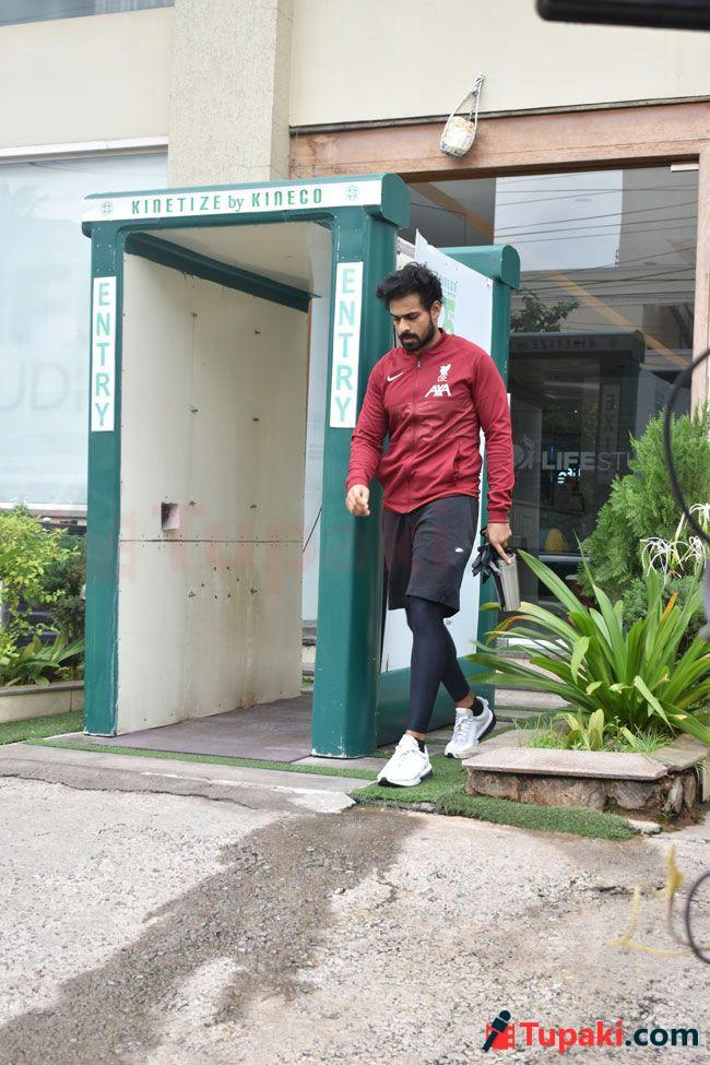 Navdeep And vaishnav Post Gym Session In Hyderabad