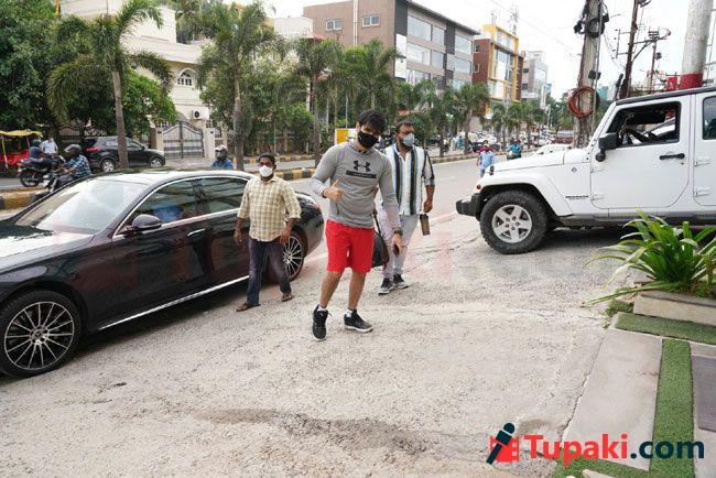 Ram Pothineni Papped His New Brand Car Heads A Gym