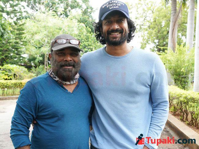 Actor satya Dev with Director Gopiganesh Papped At Dubbing