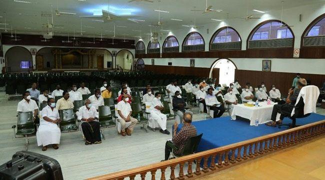Rajinikanth spoke with RMM District Secretaries Together