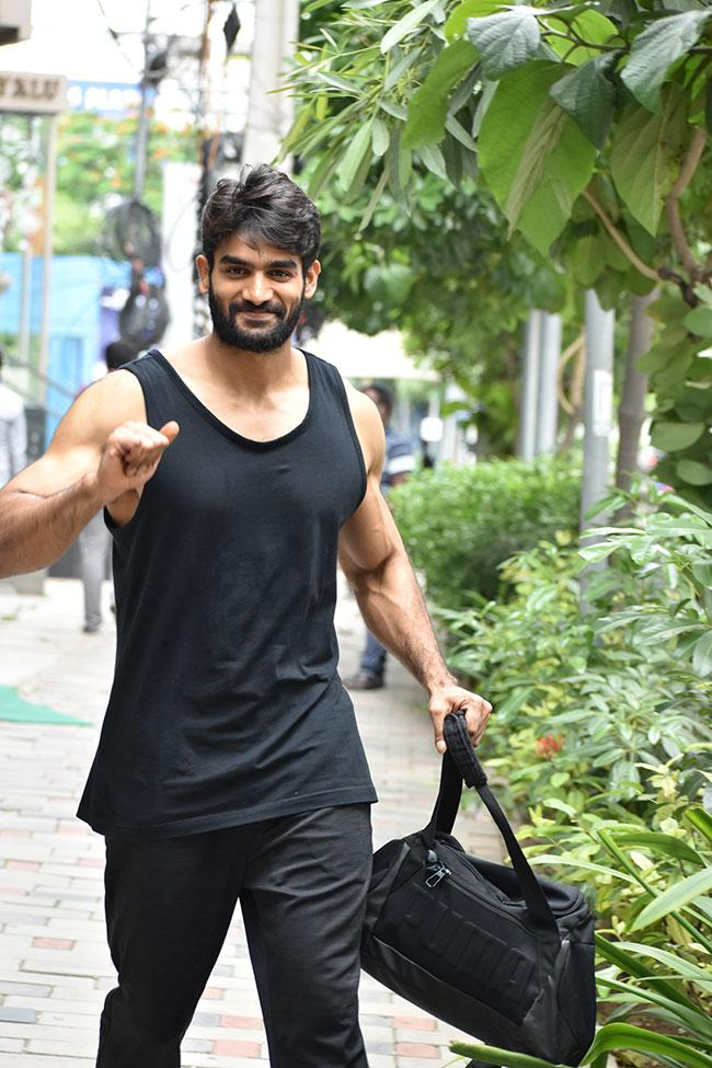 Karthikeya Steps Out Flaunting His Huge Biceps