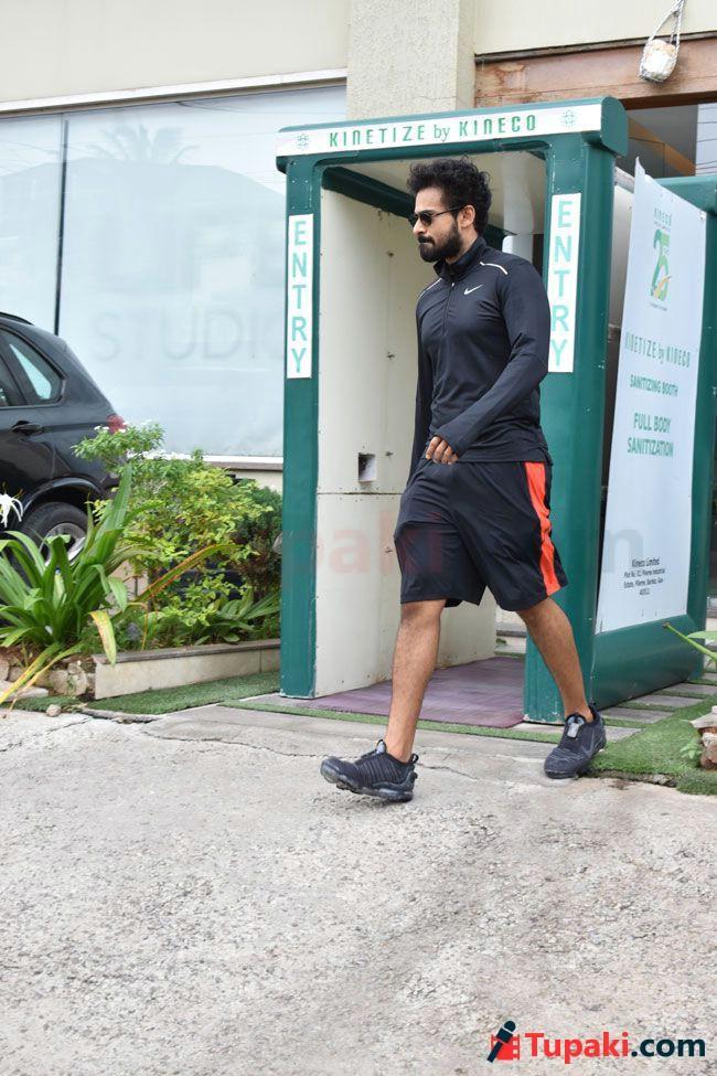 Vaishnav Tej And varun Tej Snapped After the Gym Session