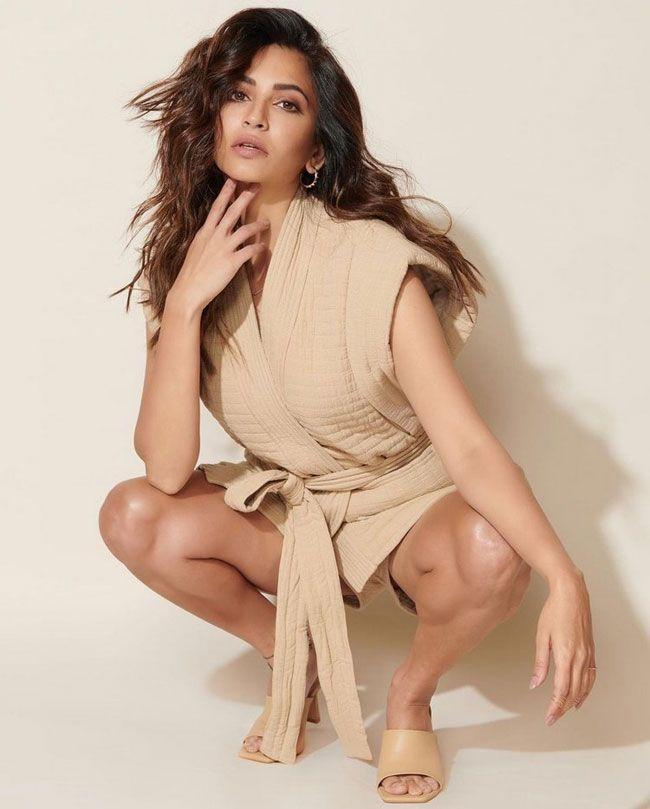 Kriti Kharbanda Poses In A Trendy Outfit