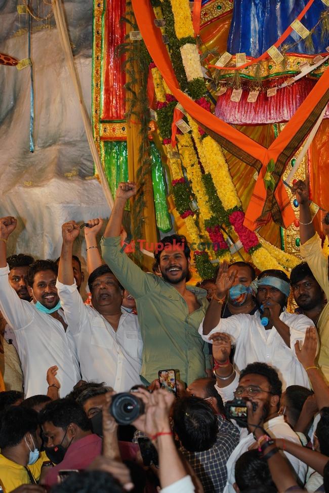 Actor Sundeep kishan at khairtabad Ganesh