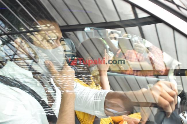 Ram Charan upasana at Apollo hospital snapped post visiting sai dharam tej