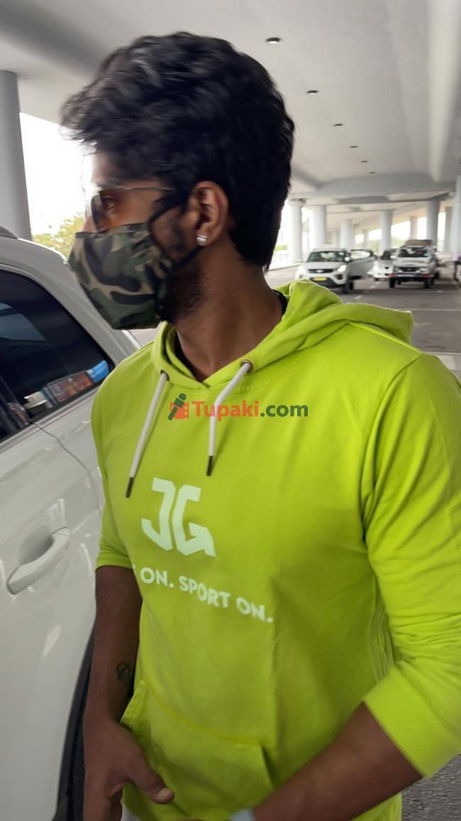 Actor Vishal vishnu Spotted at Airport in Hyderbad