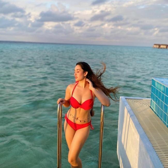 Aditi Budhakothi is Pretty Looks in a Red Bikini Dress