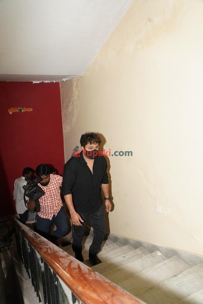 Actor Tanish at ED office In Hyderabad