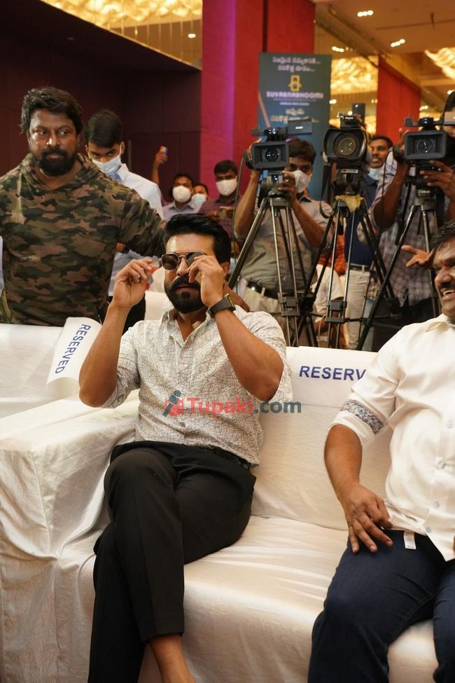 Actor Ram Charan at suvarnabhumi press meet