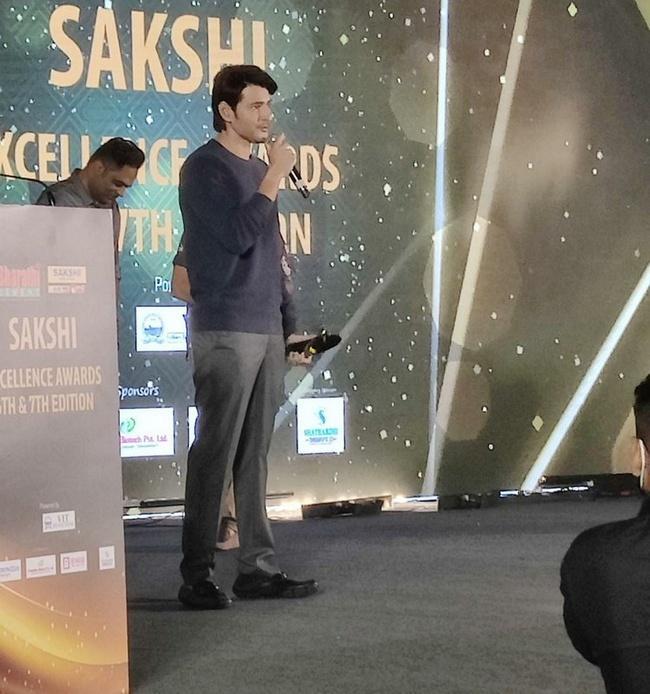 Actor Mahesh Babu at Sakshi Excellence Awards