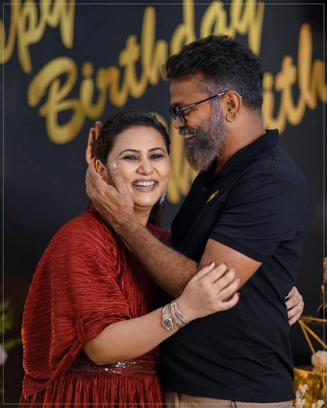 Director Sukumar is Wife Thabitha is Birth Day Celebrations