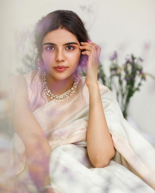 Kalyani Priyadarshan Enchanting Looks in a Orange Dress