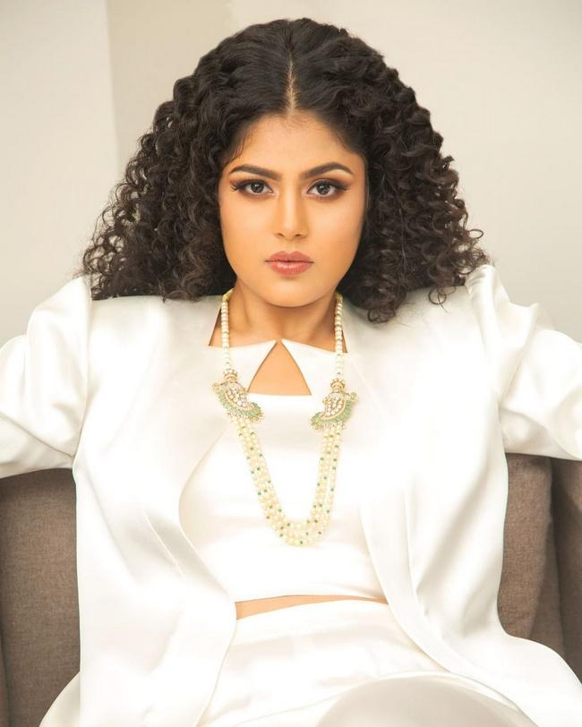 Faria Abdullah Stunning Looks in a White Dress