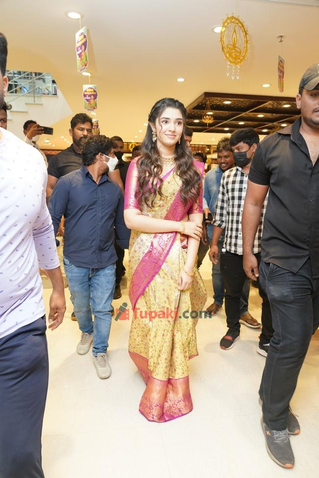 Krithi Shetty in traditional wear at an event