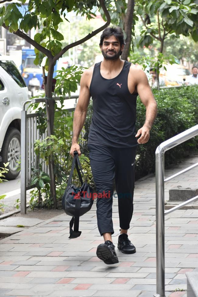 Navdeep and Kartikeya Spotted at The Gym