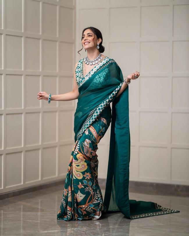 Nisha Aggarwal Enchanting Looks in a Blue Dress