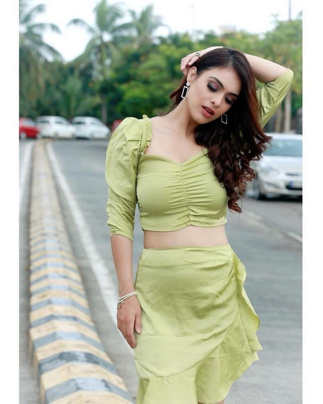 Neha Malik Looking Beautiful in a Green Outfit