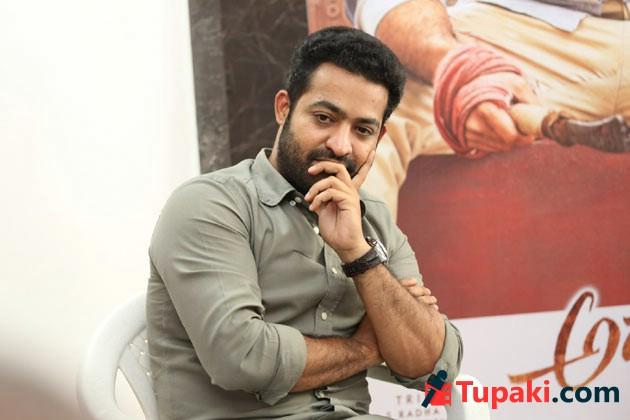 NTR In Aravinda Sametha Promotions Photos