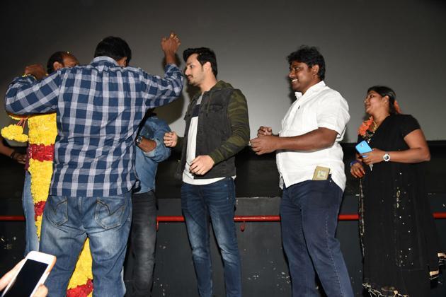 Mr Majnu Team At Sailaja Theatre Vijayawada Photos