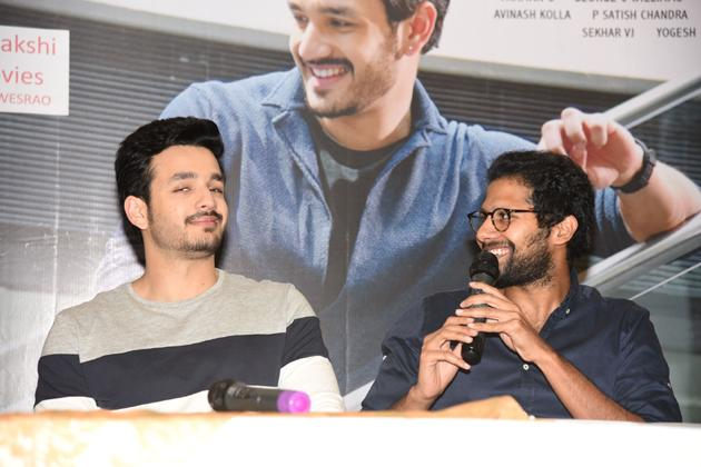 Mr Majnu Movie Press Meet At Vijayawada Photos