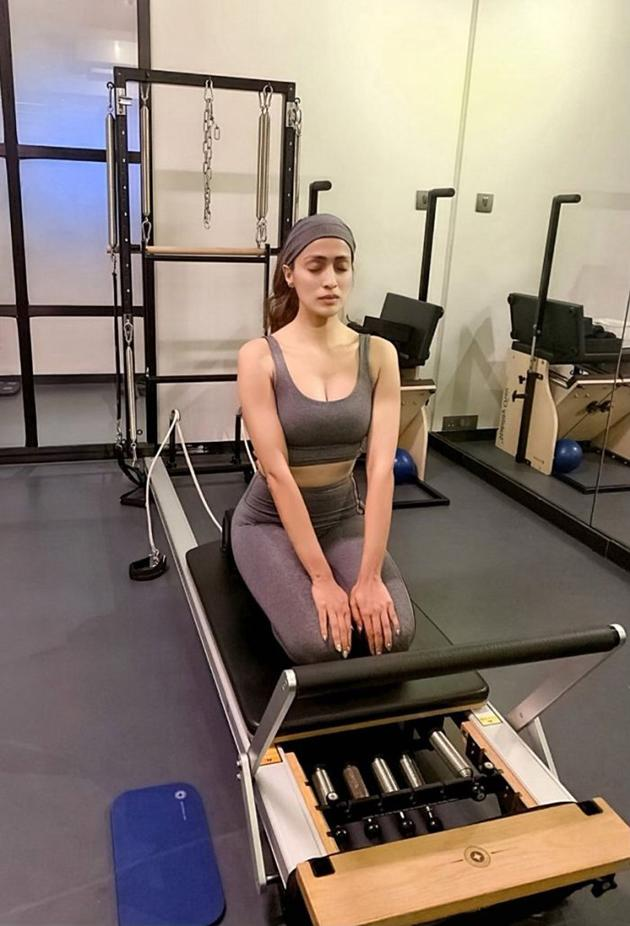 Raai Laxmi Workouts Photos