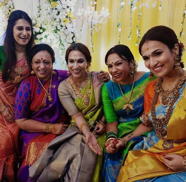 Soundarya Rajinikanth Pre Wedding Reception Photos