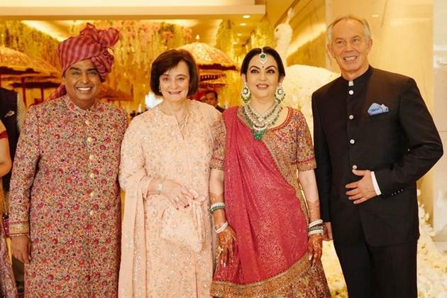 Akash Ambani and Shloka Mehta Wedding Reception Photos