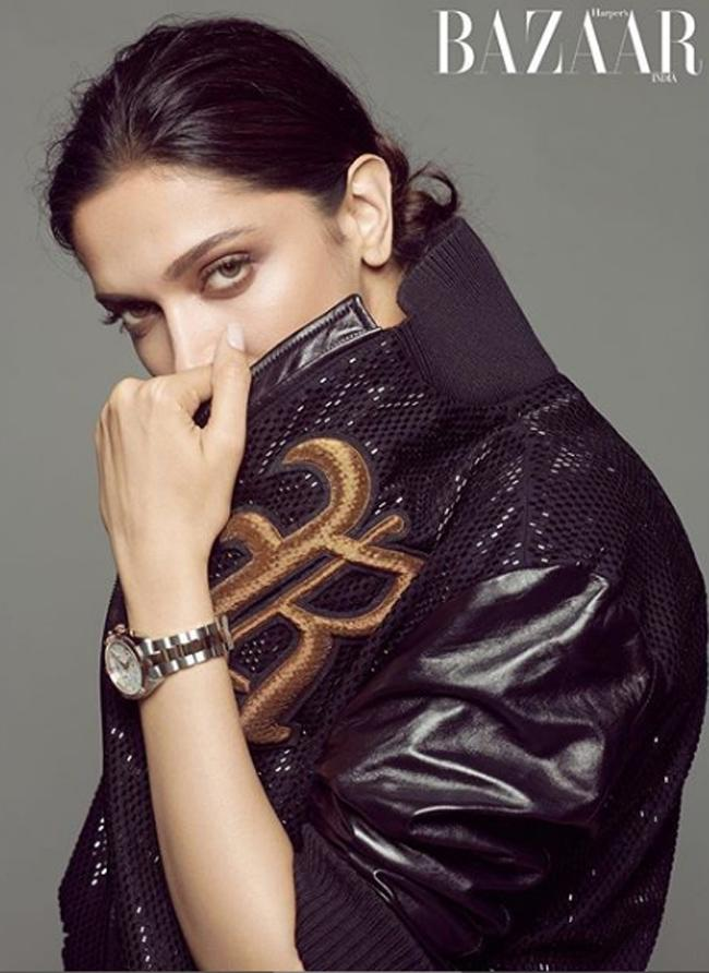 Deepika Padukone Poses For Bazar India
