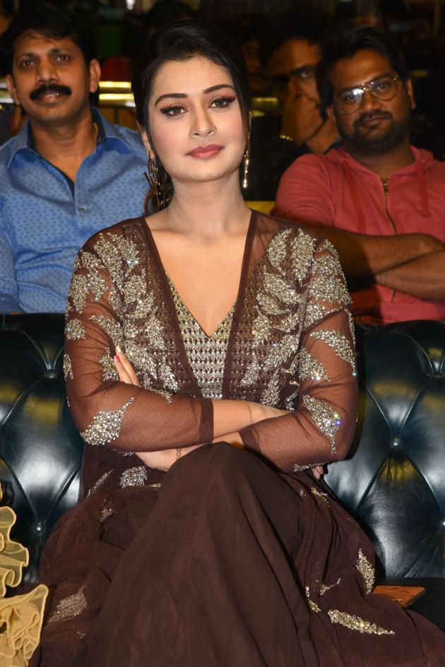 Payal Rajput At Venky Mama Pre Release Event Photos