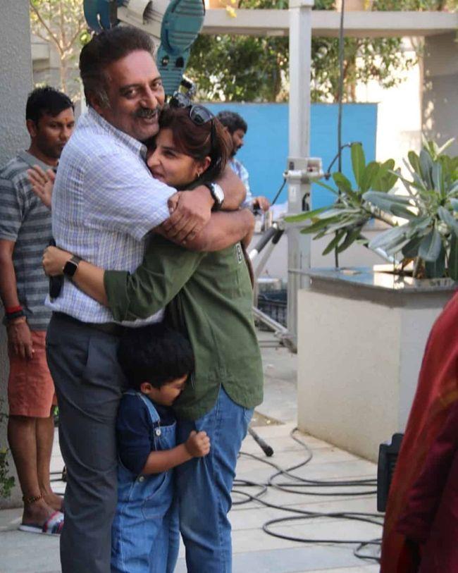 Prakash Raj Enjoying With His Family