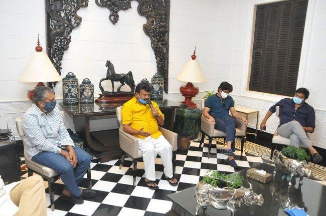 Photos of Celebrities Met At Chiranjeevi Residence