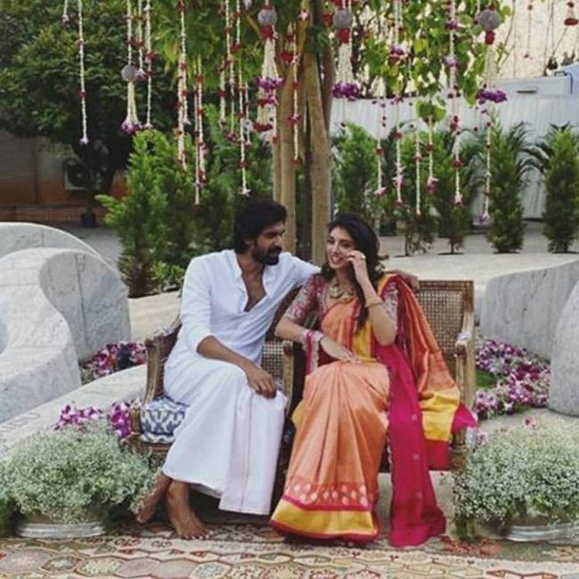 Rana Daggubati Miheeka Bajaj Roka Ceremony