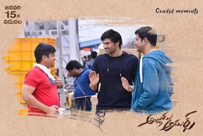 Alludu adhurs first set of working stills
