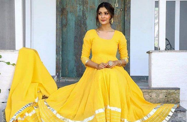 Payal Rajput looks beautiful in a Yellow dress