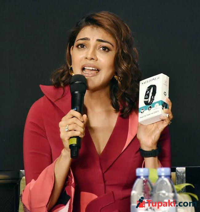Actress Kajal Aggarwal Launches SafeZone Smart Covid Watch