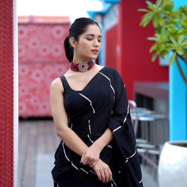 Ruhani Sharma is Pretty Looks in a Black Saree