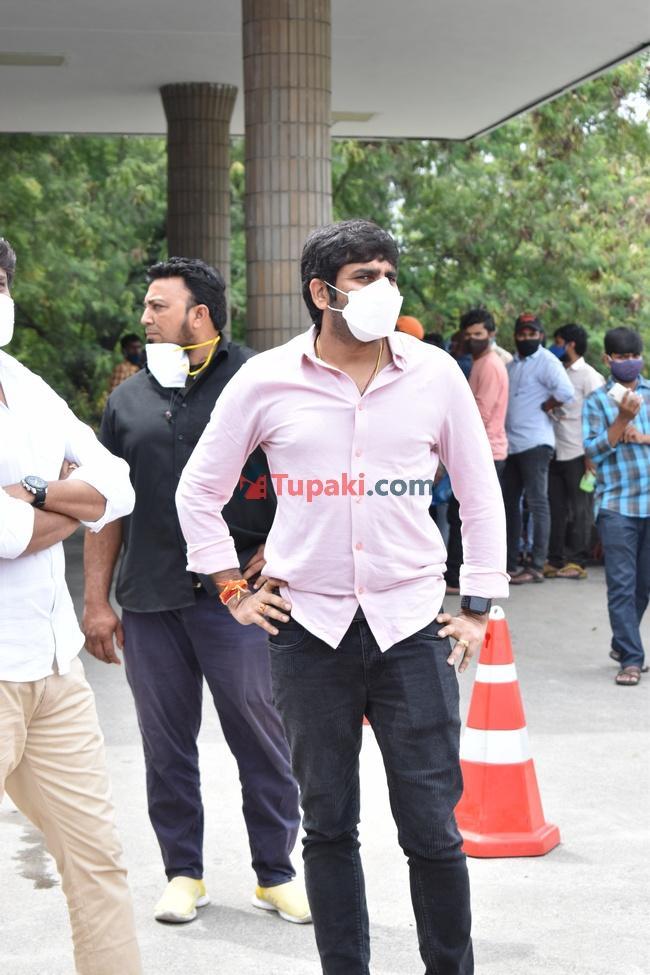 Gopichand malineni and V v. Vinayak at Apollo hospital for sai dharam tej