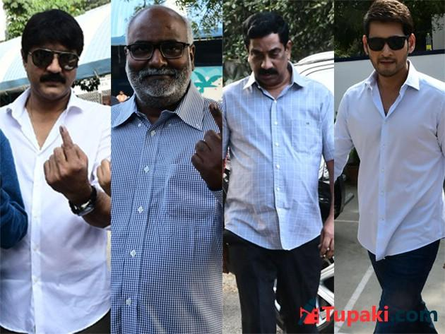 Celebrities Cast Their Vote in Telangana Elections 2018