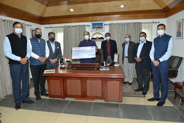 बीबीएन इंडस्ट्रीज एसोसिएशन ने मुख्यमंत्री कोविड फंड में दिया 31.47 लाख रुपए का अंशदान