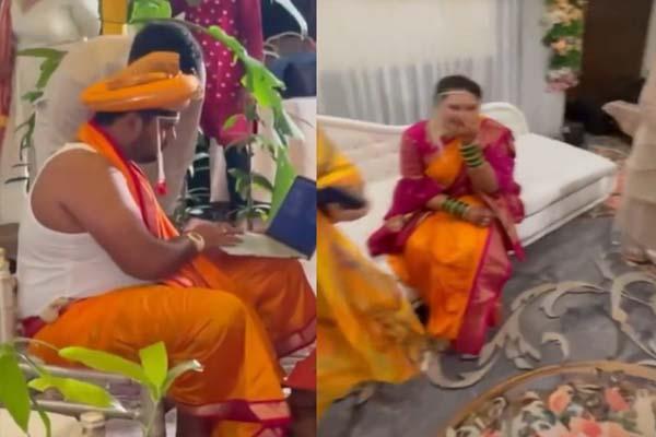 शादी के मंडप में भी काम कर रहा था दूल्हा, VIDEO में देखिए दुल्हन का ये Reaction