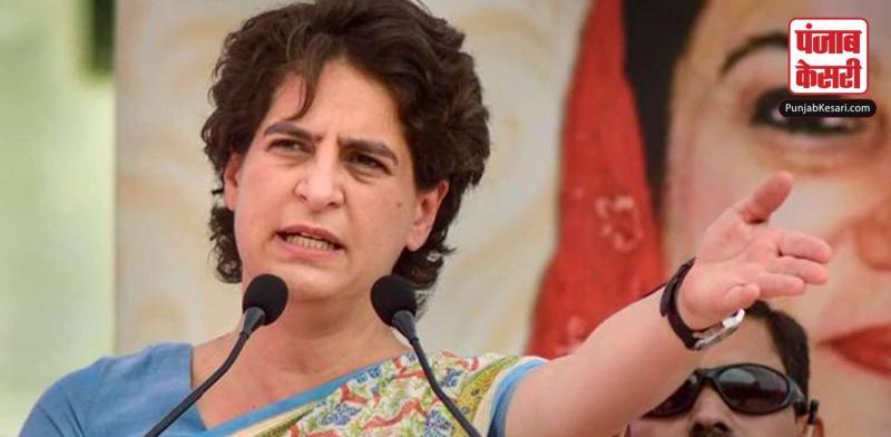 प्रियंका ने प्रदेश में महिलाओं के साथ बढते अपराध पर UP सरकार को घेरा
