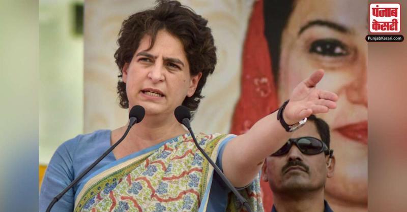 प्रियंका ने भाजपा पर साधा निशाना, कहा- किसान के पेट पर लात मारकर अपने मित्रों की जेब भर रही है सरकार
